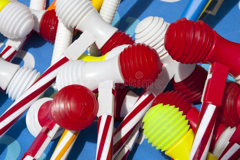 Plastic Hamer. Used in a Traditional Feast in Oporto named São João Saint Jonh royalty free stock photography