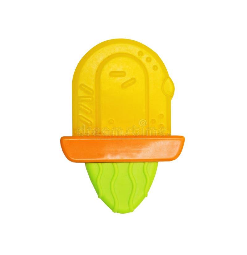 Plastic helder stuk speelgoed teether voor tanden royalty-vrije stock fotografie