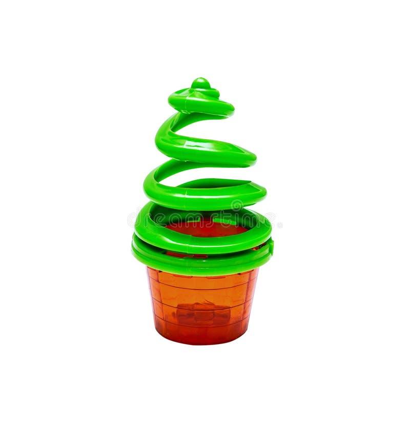 Plastic helder stuk speelgoed voor pasgeboren stock foto's