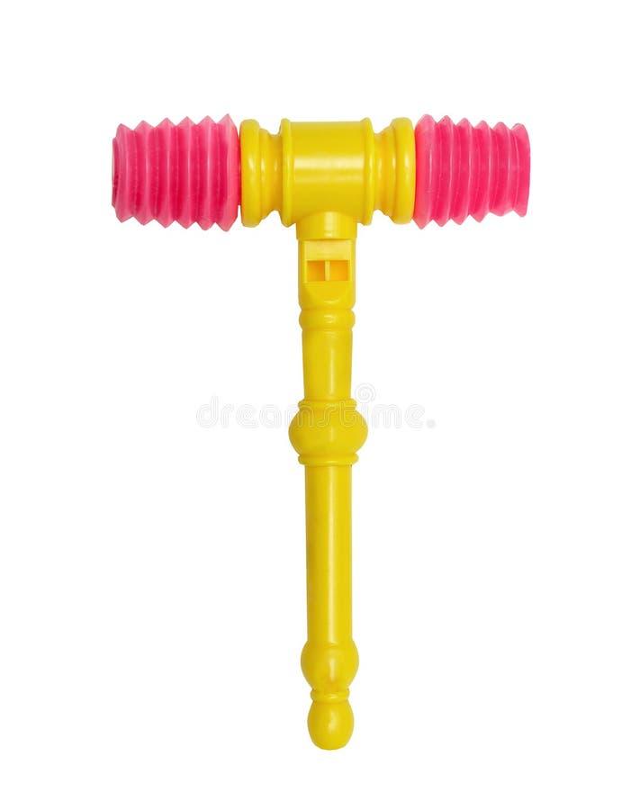 Plastic helder stuk speelgoed voor pasgeboren royalty-vrije stock afbeelding