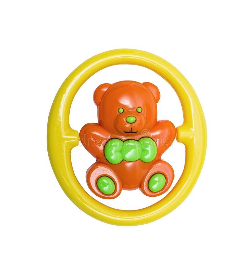 Plastic helder stuk speelgoed voor pasgeboren royalty-vrije stock foto
