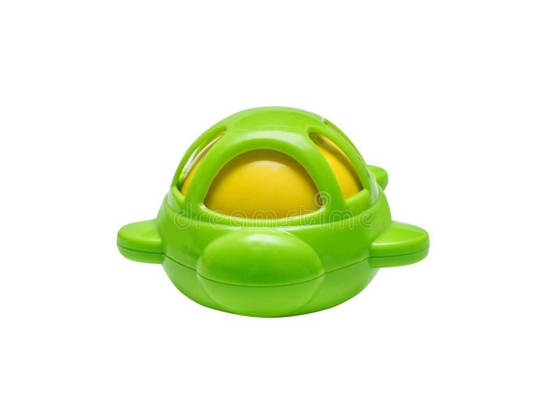 Plastic helder stuk speelgoed voor pasgeboren stock afbeelding