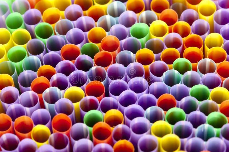 Plastic het Drinken Stro royalty-vrije stock afbeelding