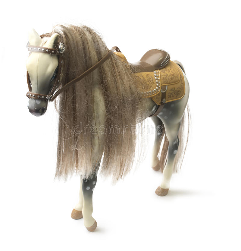 Old Child's Hobbyhorse Isolated. Stock Photo