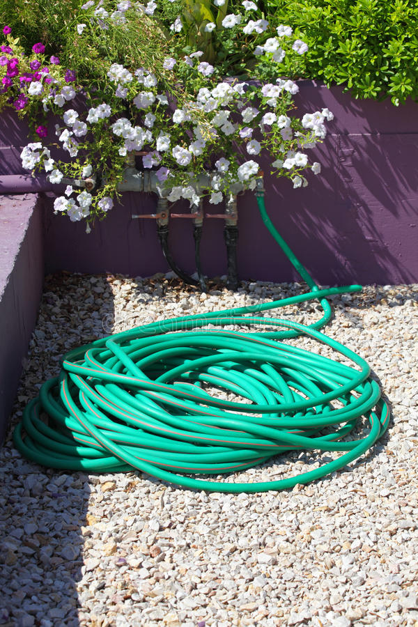 Download Plastic hose stock image. Image of valve, flowerbed, green - 23824935
