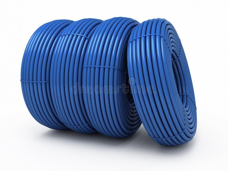 Download Plastic hose rolls stock illustration. Image of spiral - 25467991