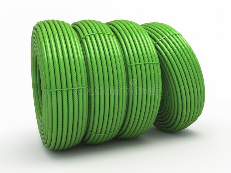 Download Plastic hose rolls stock illustration. Illustration of path - 25468076