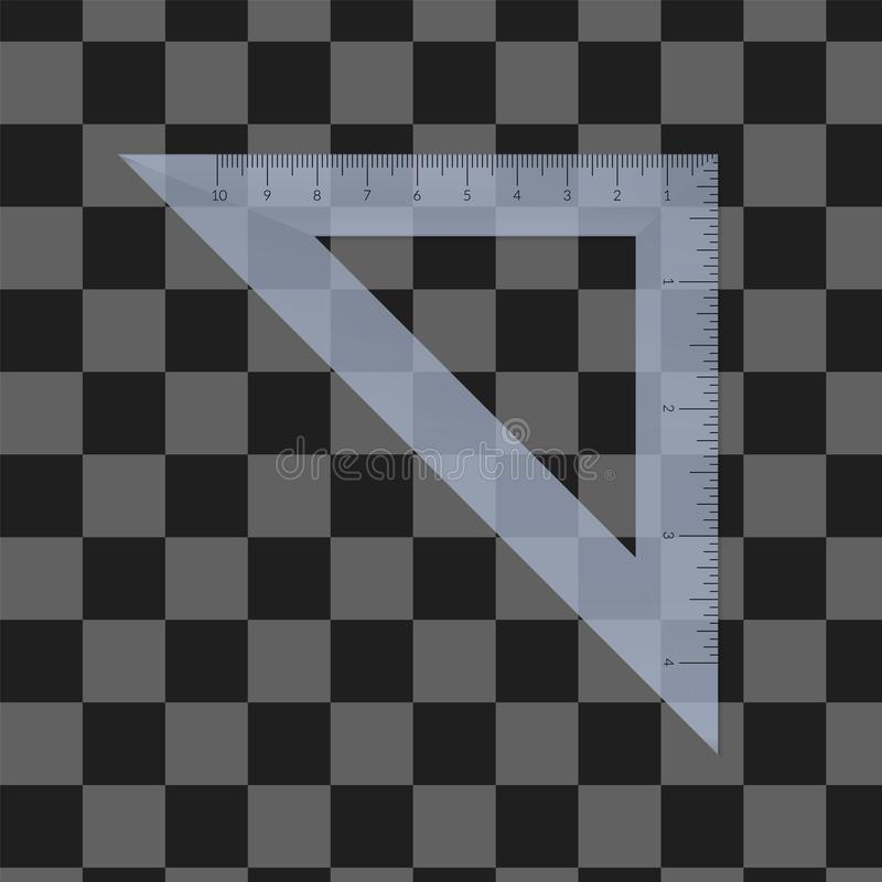 Plastic isosceles triangle stock image