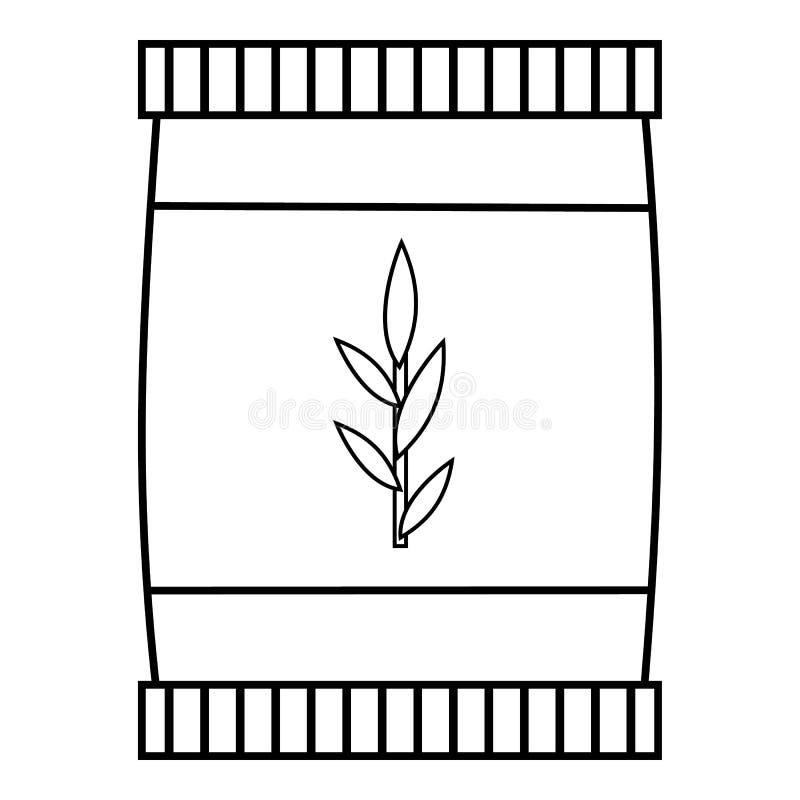 Plastic jar icon, outline style stock illustration