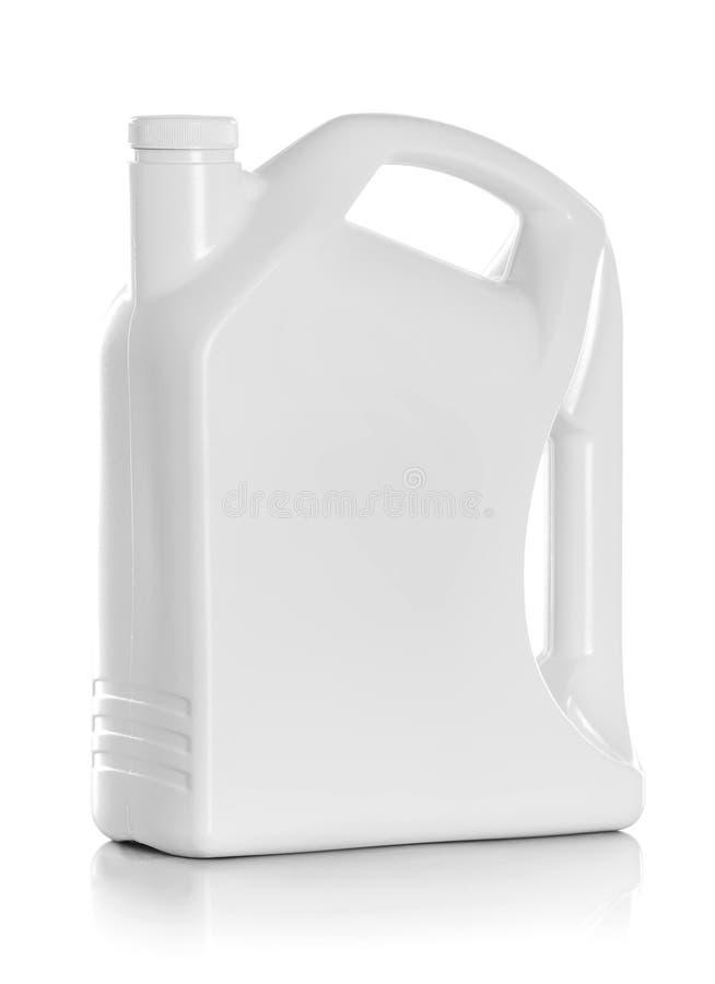 Plastic jerrycan royalty-vrije stock afbeelding