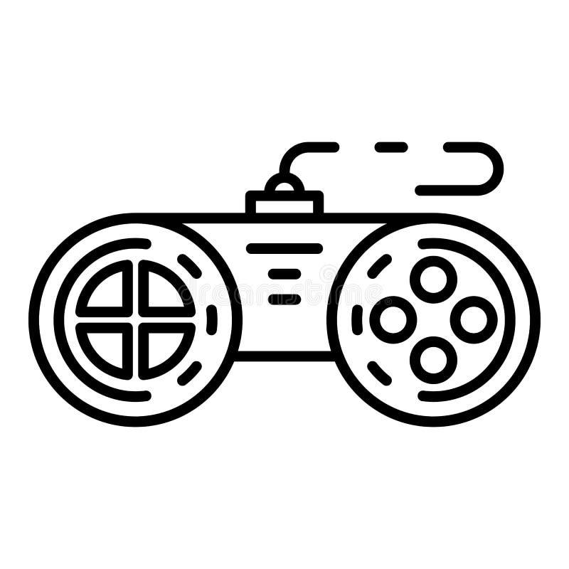 Plastic joystick icon, outline style. Plastic joystick icon. Outline plastic joystick vector icon for web design isolated on white background vector illustration