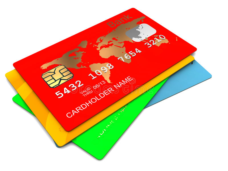 Plastic kaarten vector illustratie