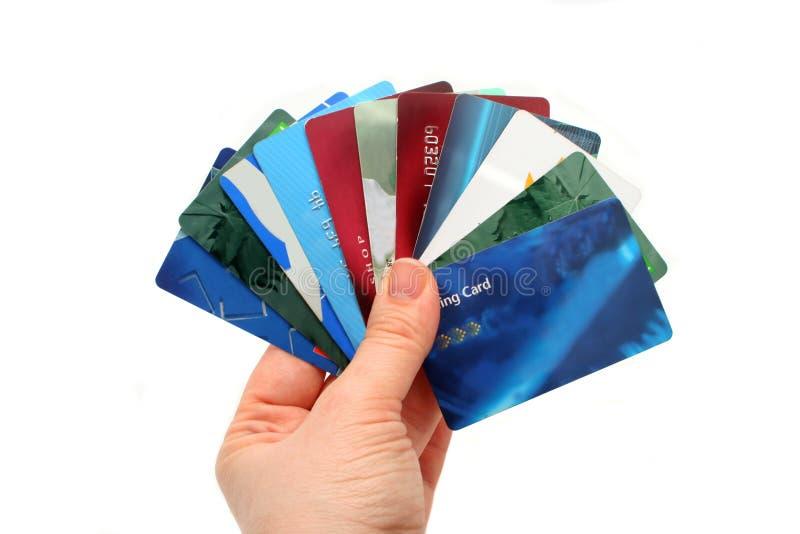 Plastic kaarten stock fotografie