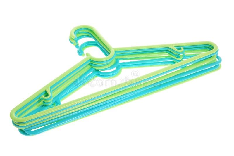 Plastic Kleerhangers stock afbeeldingen