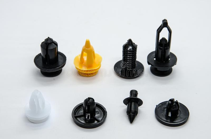 Plastic klem voor auto royalty-vrije stock afbeelding