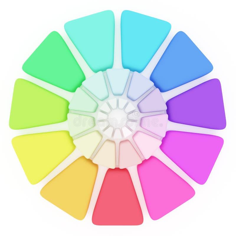 Plastic Kleur pallete vector illustratie