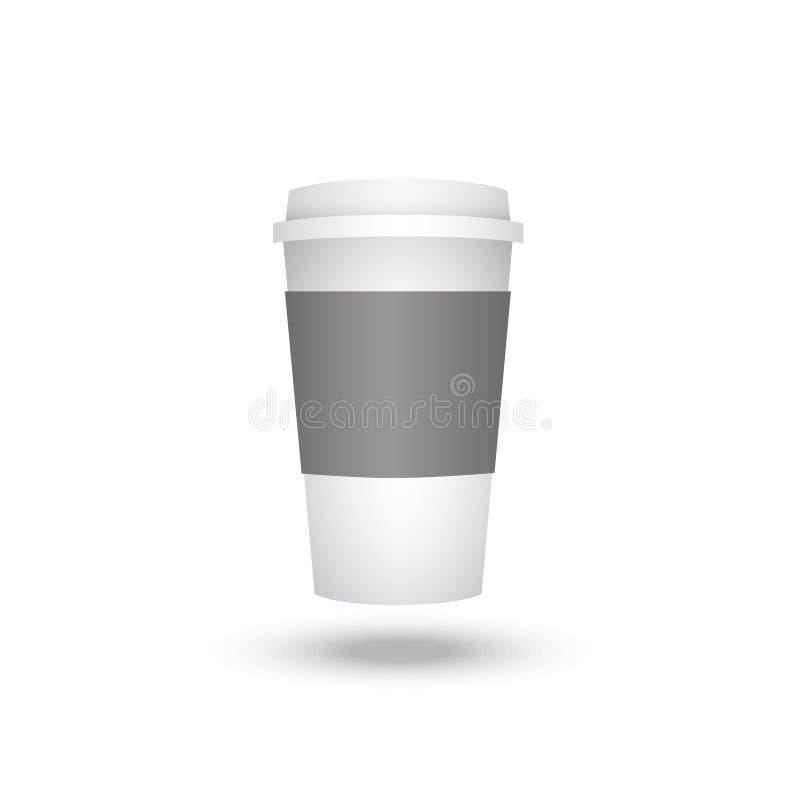 Plastic kop van koffie stock illustratie