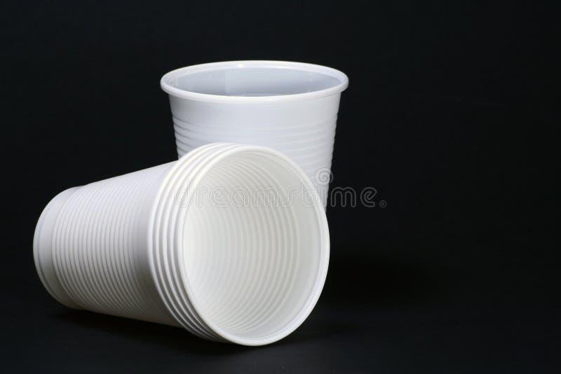 Plastic koppen royalty-vrije stock foto
