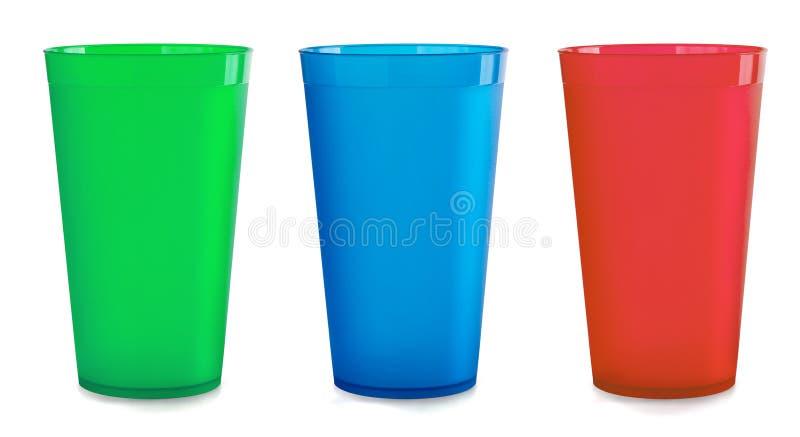 Plastic koppen royalty-vrije stock fotografie