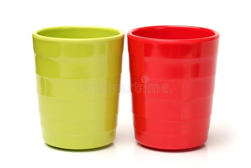 Plastic koppen stock foto's