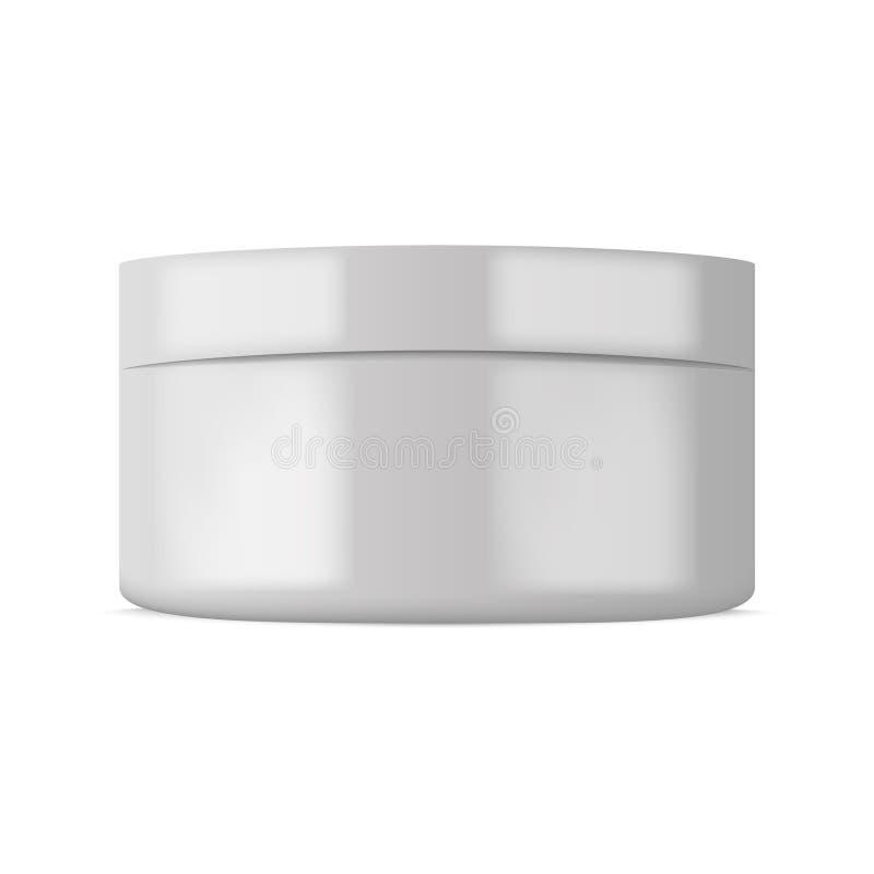 Plastic kosmetische container voor room of poeder Vector vector illustratie