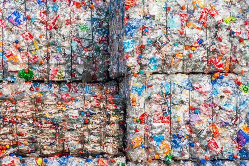 Plastic kringloopinstallatie stock fotografie