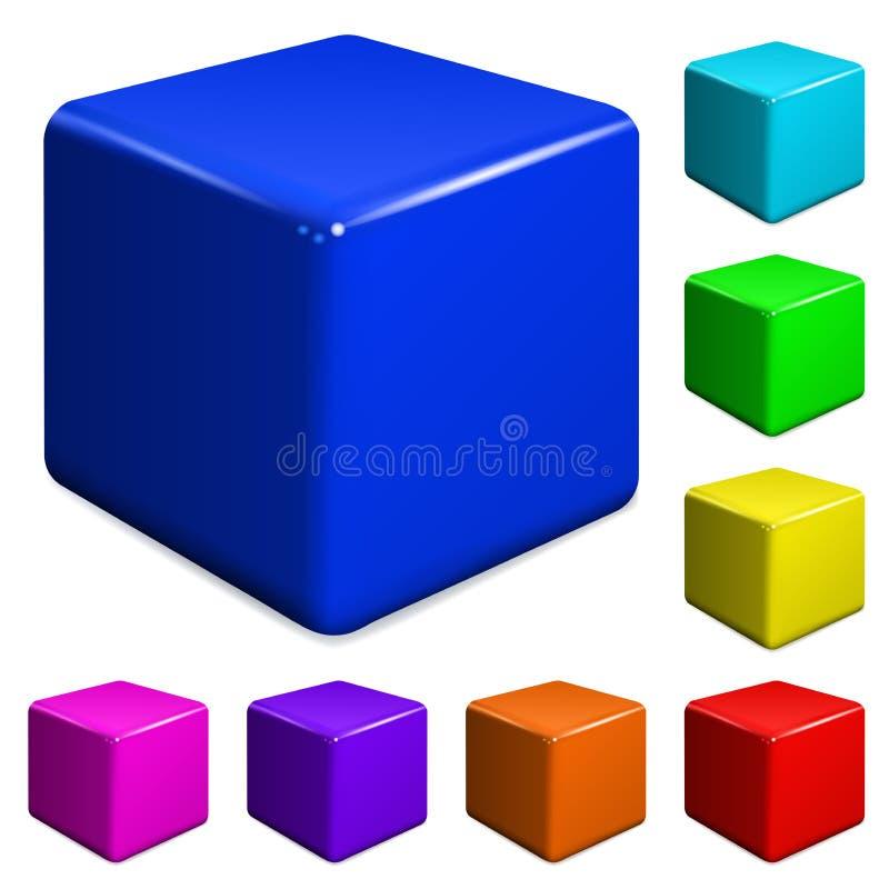 Plastic kubussen stock illustratie