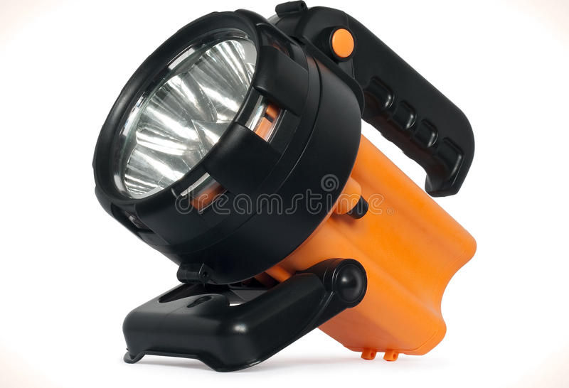 Plastic LED torch isolated royalty free stock images