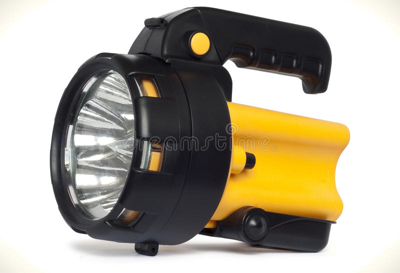 Plastic LED torch isolated stock images