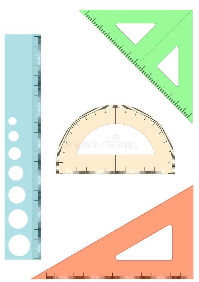 plastic linjalskola royaltyfri illustrationer