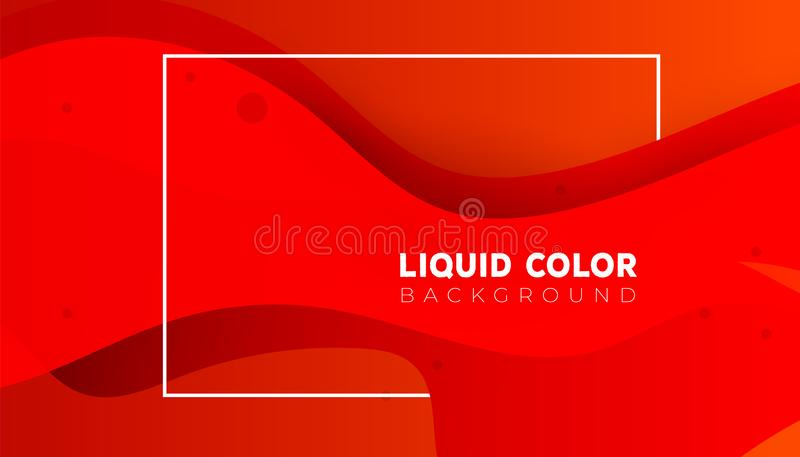Plastic liquid gradient waves sale banner template. Plastic colorful shapes, liquid gradient waves sale banner template stock illustration