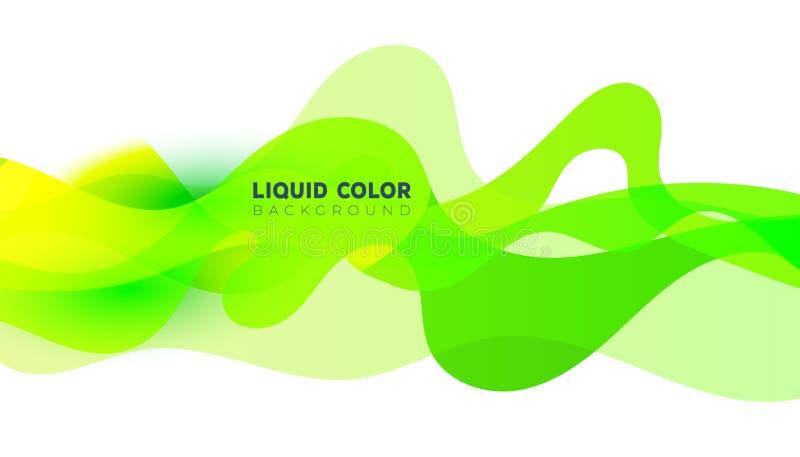 Plastic liquid gradient waves sale banner template. Fluid multicolor banner. Plastic liquid gradient waves sale banner template vector illustration