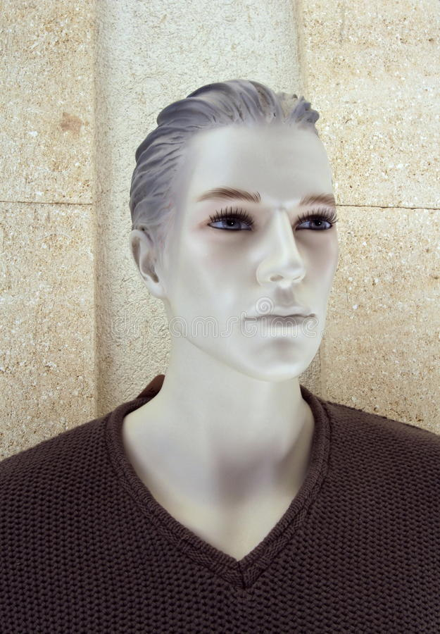 Plastic male mannequin head stock images