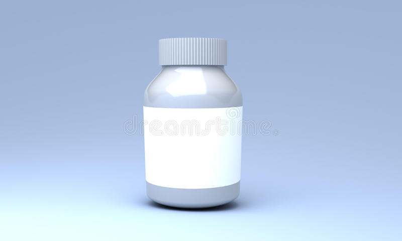 Plastic medicine bottle royalty free stock photography