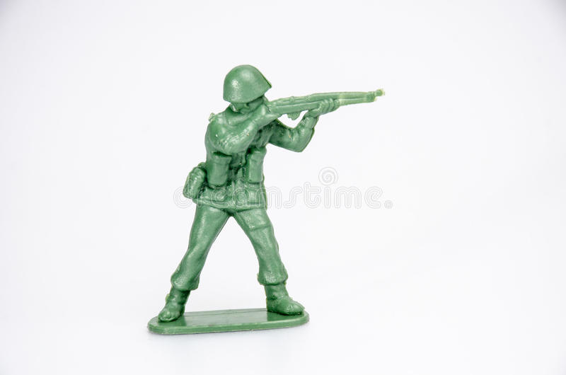 Plastic mini toy soldiers stock image