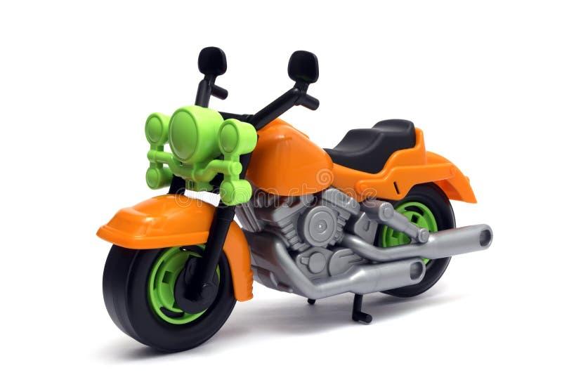 Plastic motorfietsstuk speelgoed stock foto