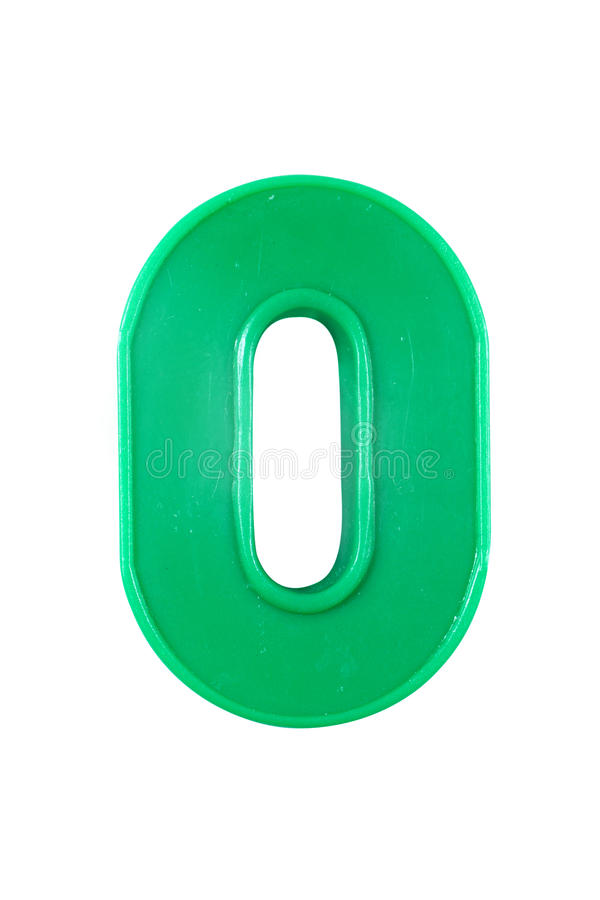 Plastic number cipher. Under the white background stock image