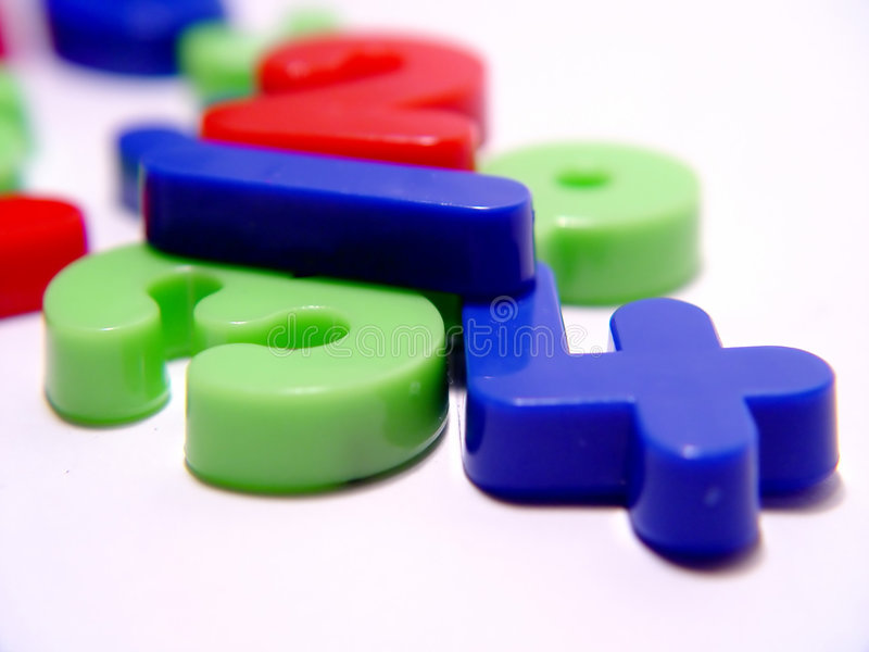 Plastic Numbers royalty free stock photo
