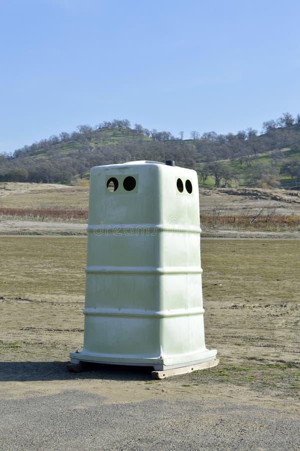Plastic openbare toiletcel royalty-vrije stock foto's