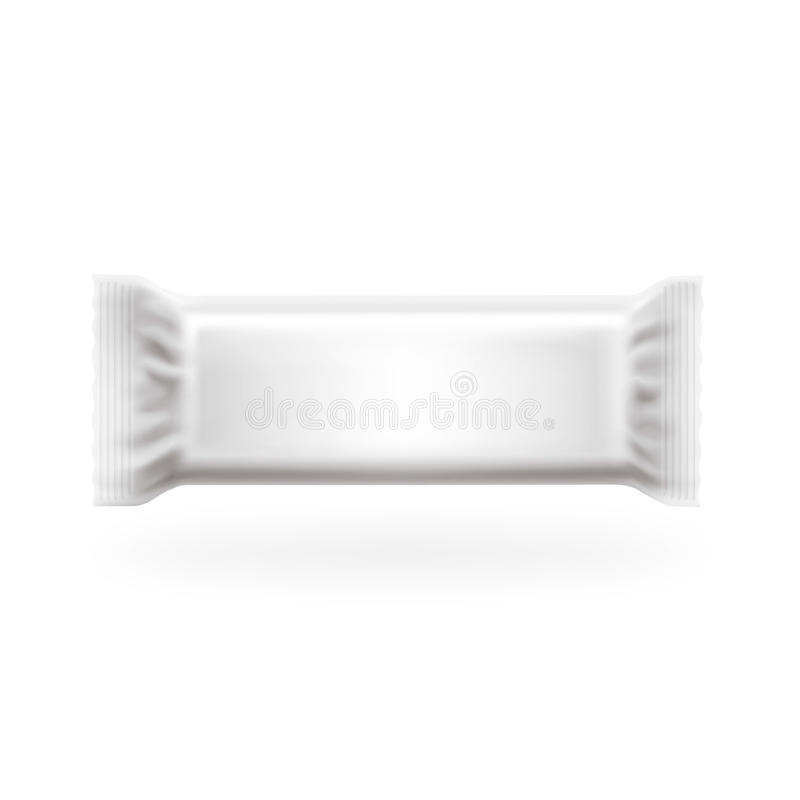 Free Plastic Package Bar Medium Cover Vector. Chocolate, Wafers, Sweets And Candy Pack. Easy Editable In Layers, High Detailed. Royalty Free Stock Images - 53523689