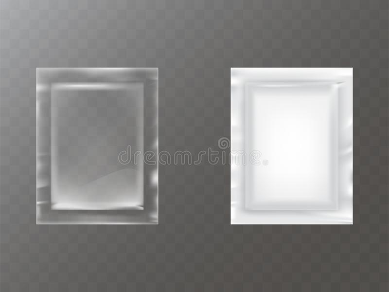 Plastic packets realistic vector vector illustration