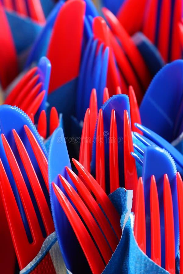 Download Plastic party forks stock image. Image of knife, blue - 25109511