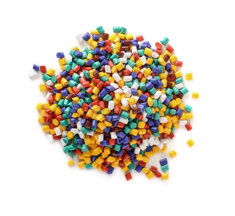 Plastic pellets stock images