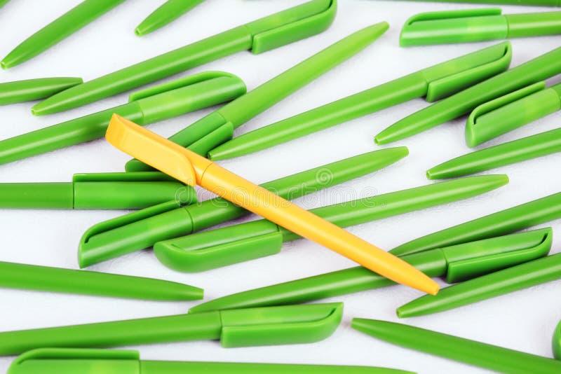 Plastic pennen royalty-vrije stock afbeeldingen