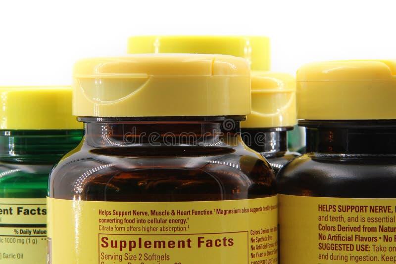 Plastic Pill Bottles stock photo
