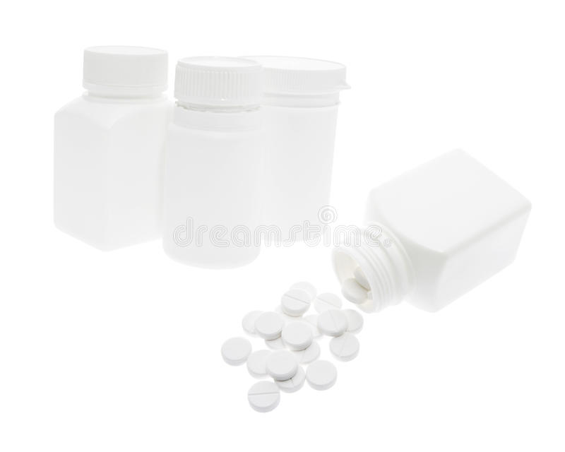 Download Plastic Pill Bottles And Tablets Stock Photo - Image: 13599510