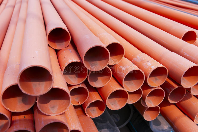 Download Plastic pipe stock image. Image of piled, build, pipe - 24708627