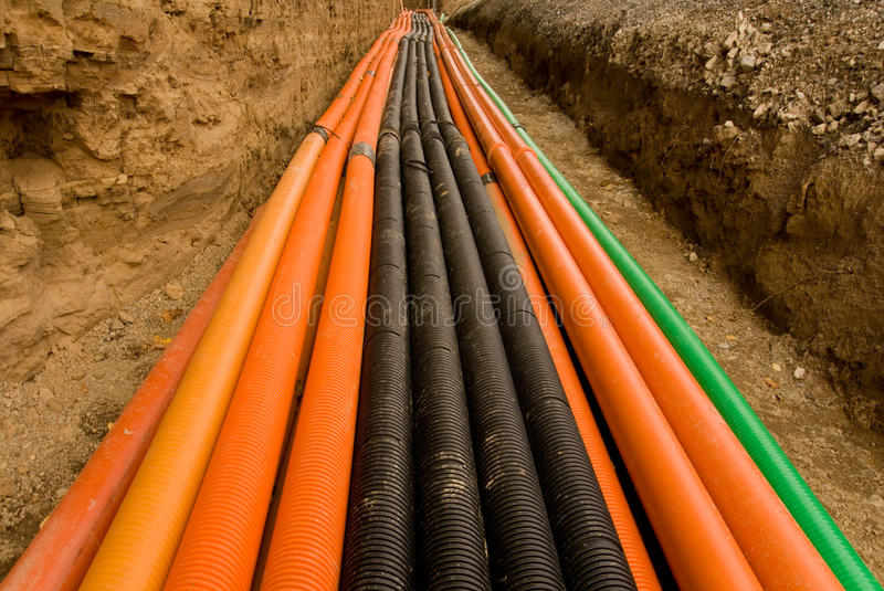 Download Plastic Pipes With Cables Royalty Free Stock Photos - Image: 10711628