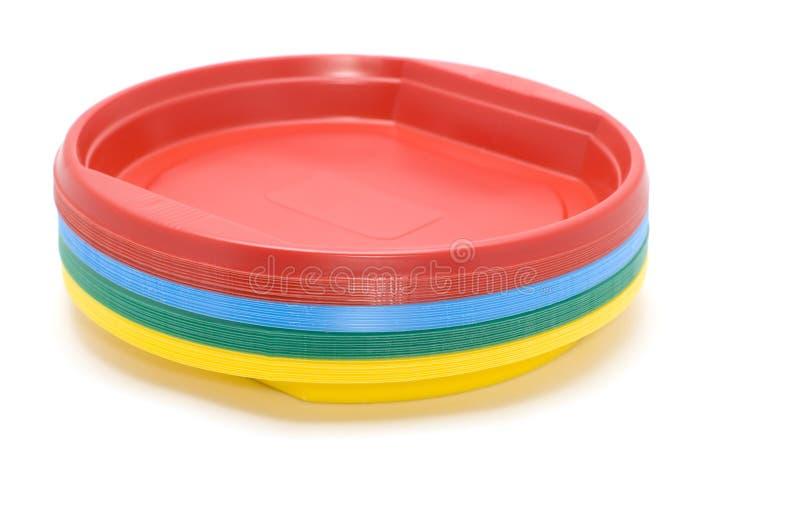 Plastic plate stock image