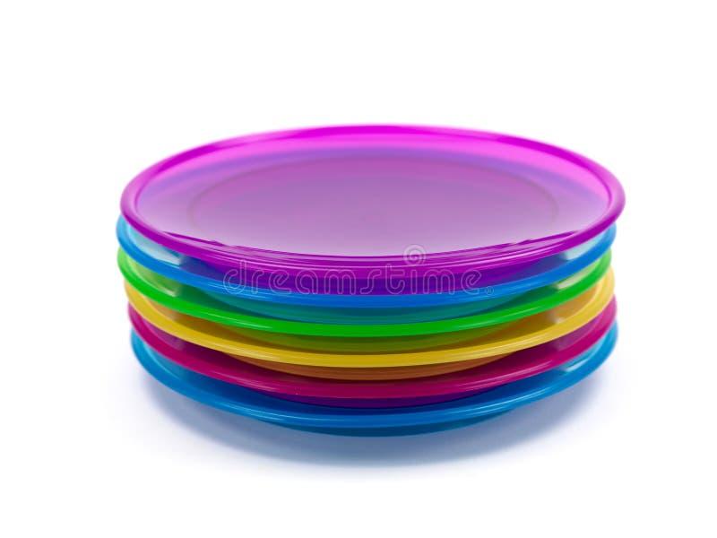 Plastic Plates stock photo